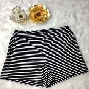 CYNTHIA ROWLEY Black/White Striped Shorts